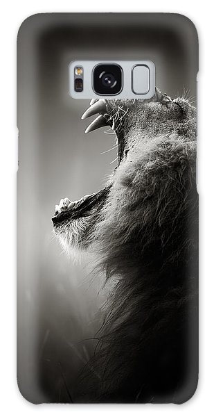Lion Galaxy Case - Lion Displaying Dangerous Teeth by Johan Swanepoel