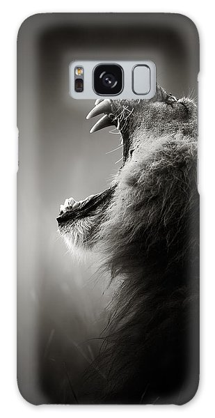Galaxy Case - Lion Displaying Dangerous Teeth by Johan Swanepoel