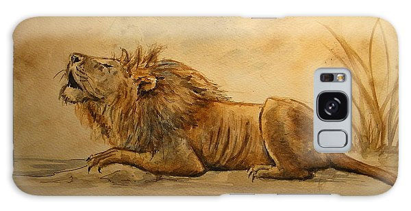 Watercolor Pet Portraits Galaxy Case - Lion by Juan  Bosco