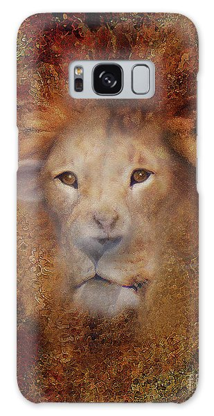 Imagery Galaxy Case - Lion Lamb Face by Constance Woods