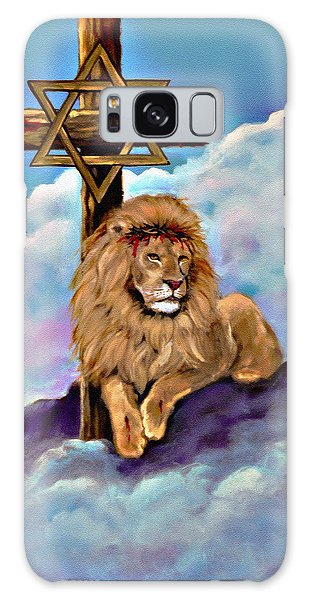Lion Of Judah At The Cross Galaxy Case by Bob and Nadine Johnston