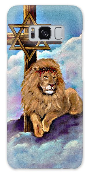 Lion Of Judah At The Cross Galaxy Case