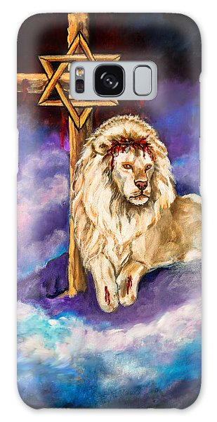 Lion Of Judah Original Painting Forsale Galaxy Case
