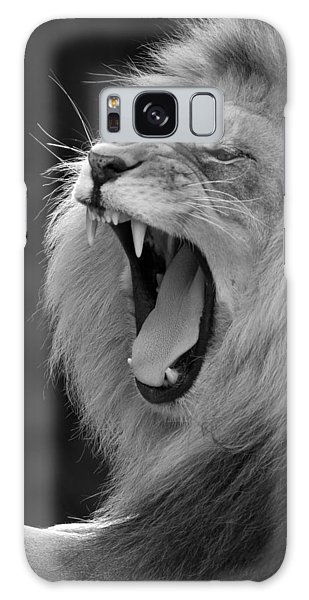 Lion Roar Black And White  Galaxy Case