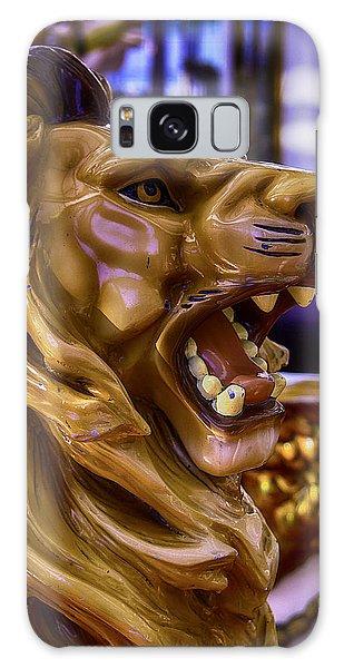 County Fair Galaxy Case - Lion Roaring Carrousel Ride by Garry Gay