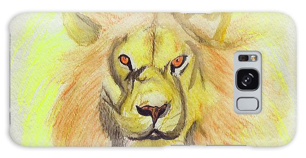 Lion Yellow Galaxy Case by First Star Art