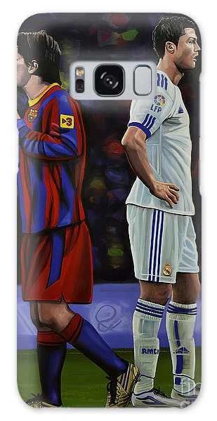 People Galaxy Case - Lionel Messi And Cristiano Ronaldo by Paul Meijering
