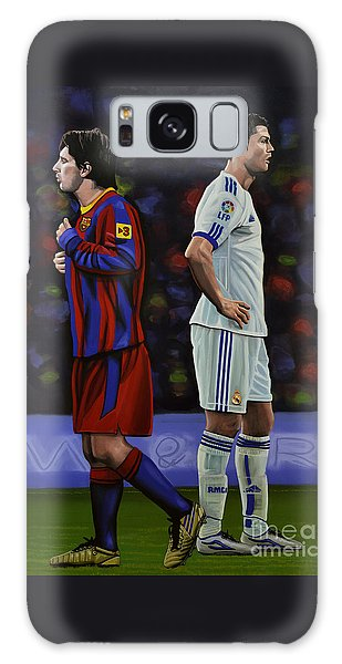Lionel Messi And Cristiano Ronaldo Galaxy Case