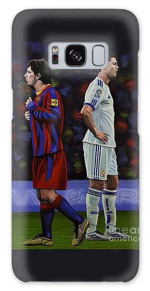 Lionel Messi And Cristiano Ronaldo Galaxy Case by Paul Meijering