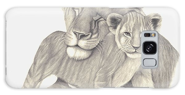 Lioness And Cub Galaxy Case