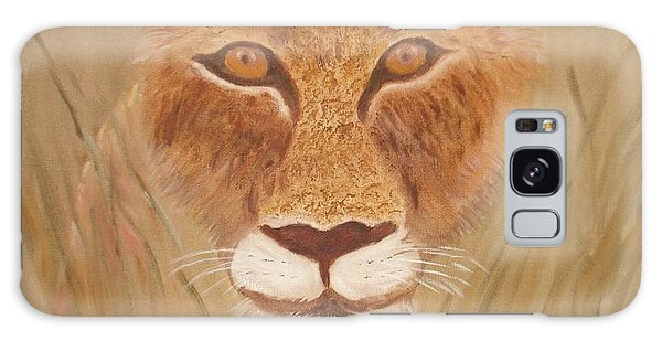 Lioness In Waiting Galaxy Case