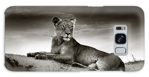 Lion Galaxy Case - Lioness On Desert Dune by Johan Swanepoel