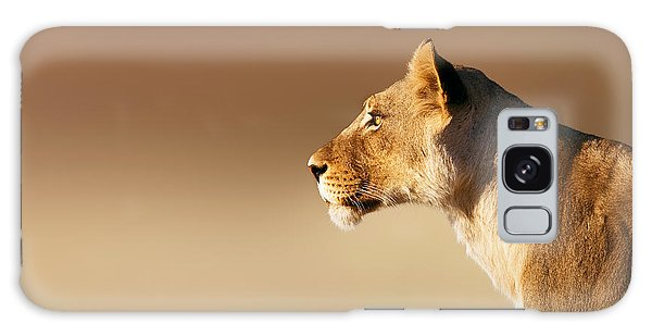 Powerful Galaxy Case - Lioness Portrait by Johan Swanepoel