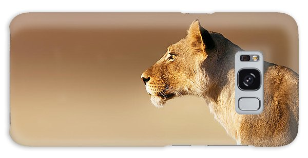 Cat Galaxy Case - Lioness Portrait by Johan Swanepoel