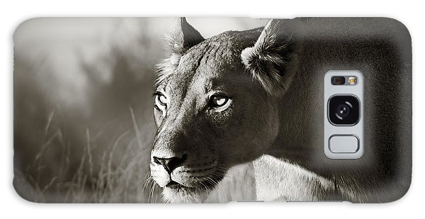 Lioness Stalking Galaxy Case