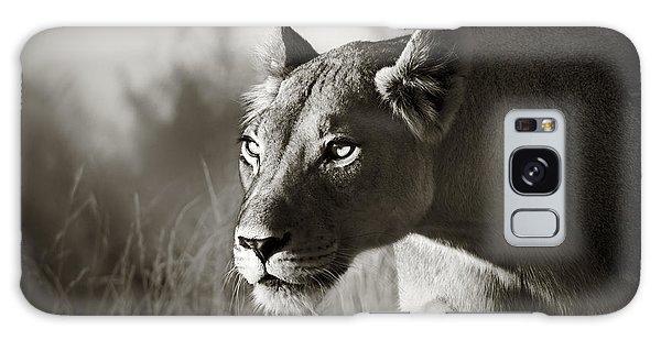 Lioness Stalking Galaxy Case by Johan Swanepoel