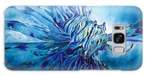 Lionfish Abstract Blue Galaxy Case