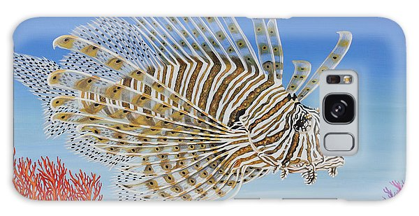 Lionfish And Coral Galaxy Case by Jane Girardot