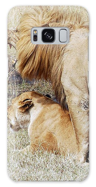 Lions Mating Galaxy Case