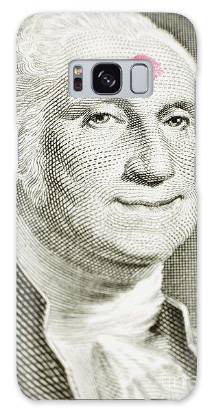 Lipstick Kiss On One Dollar Bill Galaxy Case
