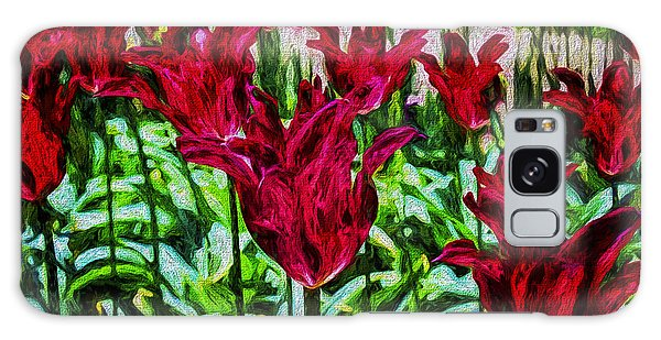 Lipstick Tulips Galaxy Case