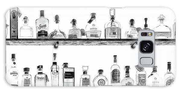 Liquor Bottles - Black And White Galaxy Case