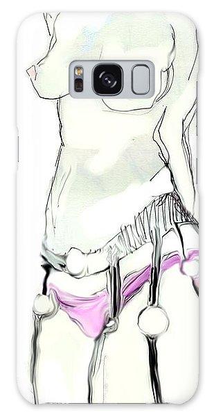 Lisa Wearing Stockings Galaxy Case