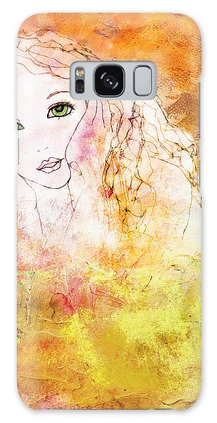 Listen To The Colour Of Your Dreams Galaxy Case by Barbara Orenya