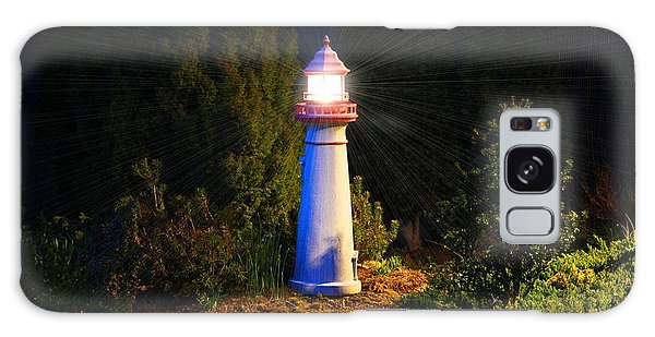Lit-up Lighthouse Galaxy Case
