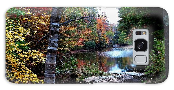 Little Androscoggin River Galaxy Case by Mike Breau
