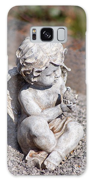 Little Angel With Bird In His Hand - Sculpture Galaxy Case