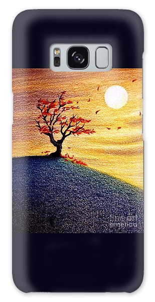 Little Autumn Tree Galaxy Case
