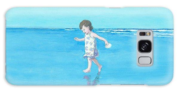 Little Beach Girl Panorama Galaxy Case