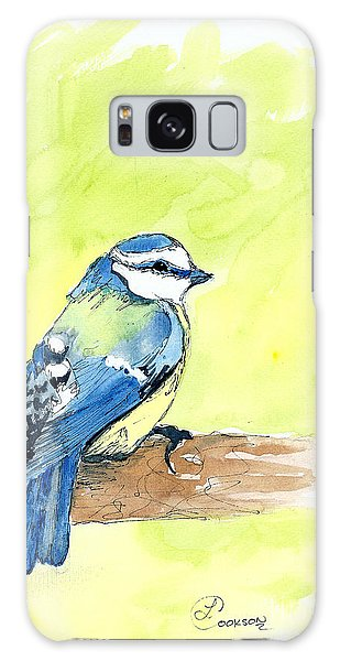Little Blue Bird Galaxy Case by Lynda Cookson
