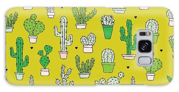 Little Cactus Botanical Garden Galaxy Case by Maaike Boot