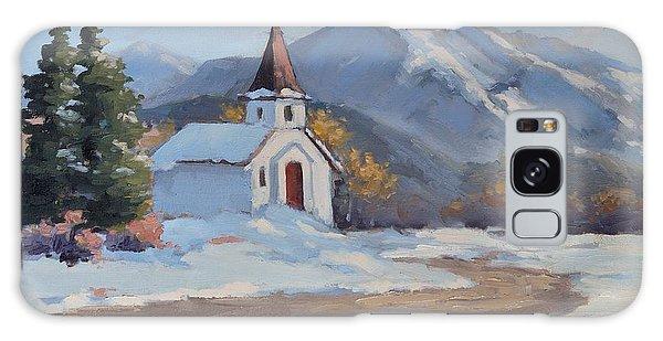 Little Church In The Carphatian Mountains Galaxy Case