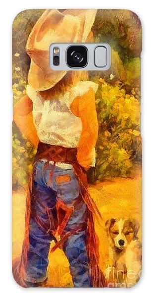Little Cowgirl Galaxy Case