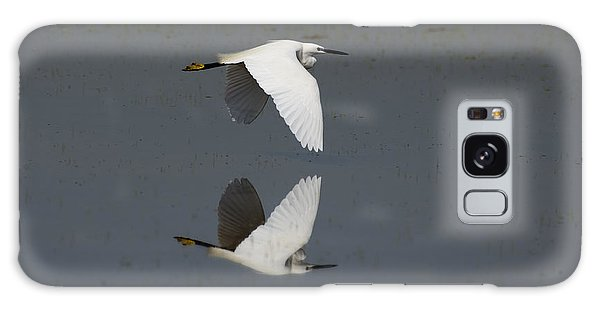 Little Egret In Flight Galaxy Case