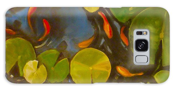 Little Fish Koi Goldfish Pond Galaxy Case