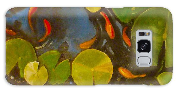 Little Fish Koi Goldfish Pond Galaxy Case by Mary Hubley