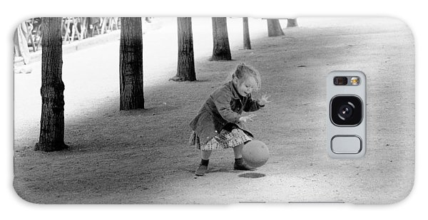 Little Girl With Ball Paris Galaxy Case by Dave Beckerman