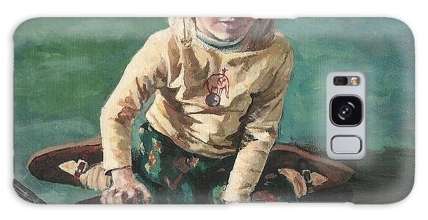 Little Girl With Guitar Galaxy Case by Joy Nichols