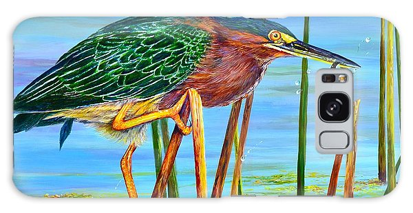 Little Green Heron Galaxy Case