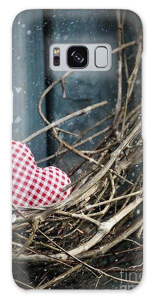 Little Heart On Christmas Wreath Galaxy Case