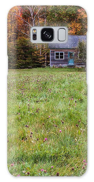 Little House At Woodlands Edge In New Hampshire Galaxy Case by Karen Stephenson