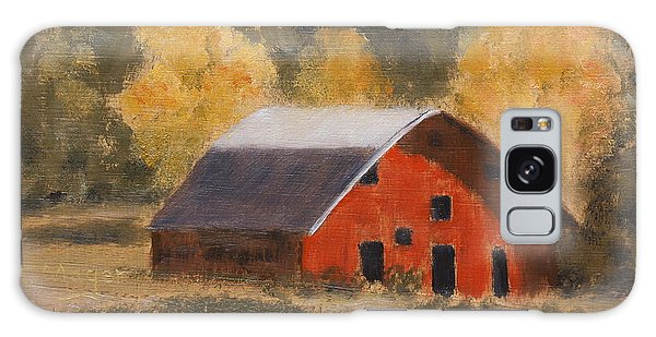 Little Old Hay Barn Galaxy Case