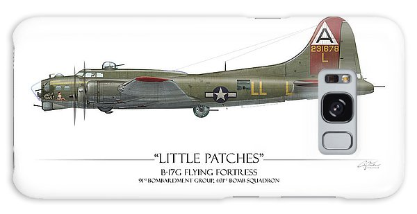 Ww2 Galaxy Case - Little Patches B-17 Flying Fortress - White Background by Craig Tinder