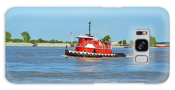 Little Red Boat On The Mighty Mississippi Galaxy Case by Alys Caviness-Gober