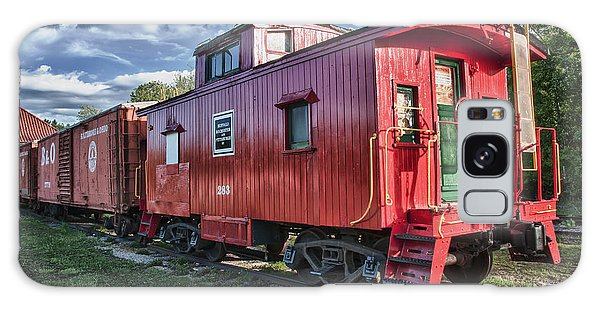 Little Red Caboose Galaxy Case by Guy Whiteley
