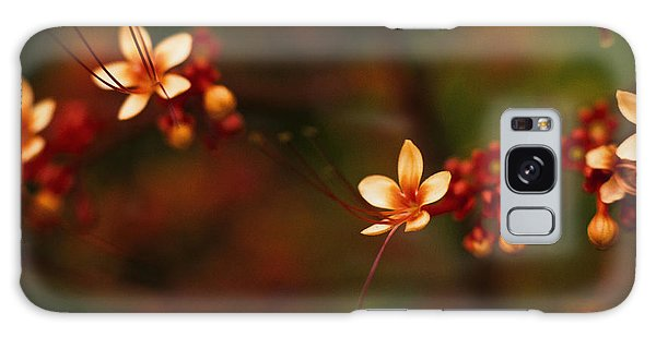 Little Red Flowers Galaxy Case by Bradley R Youngberg